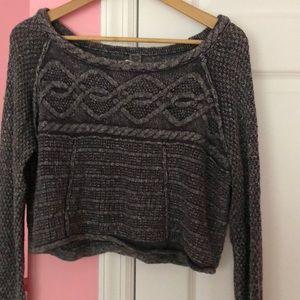 Free People sweater crop top